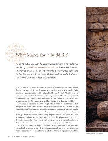 What Makes You a Buddhist? - Khyentse Foundation
