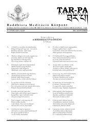 Buddhista Meditáció Központ - Dharmalap