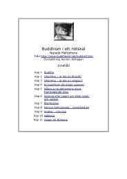 Buddhism i ett nötskal - Buddha dhamma sangha