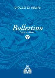 Gennaio - Marzo Bollettino 1 - Diocesi di Rimini