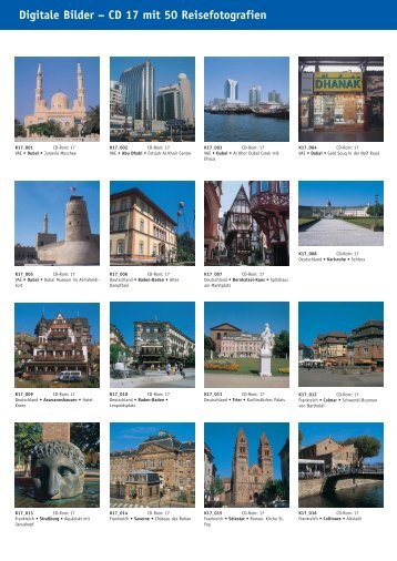 Digitale Bilder – CD 17 mit 50 Reisefotografien - bei Kessler Medien