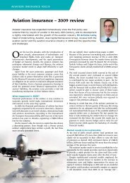 Aviation insurance – 2009 review - Asia Capital Reinsurance Group