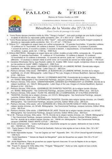 resultats de la vente en pdf - Nice Enchères