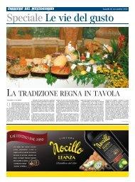 LA TRADIZIONE REGNA IN TAVOLA - Corriere del Mezzogiorno ...