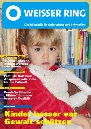 Kinder besser vor Gewalt schützen - Weisser Ring e.V.