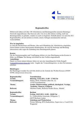 Regionaltreffen - Weißes Kreuz e.V.
