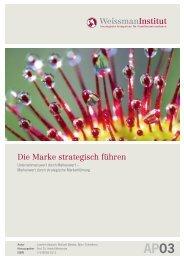 Die Marke strategisch führen - Weissman.de