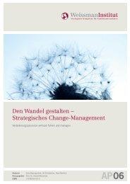 Den Wandel gestalten – Strategisches Change ... - Weissman.de