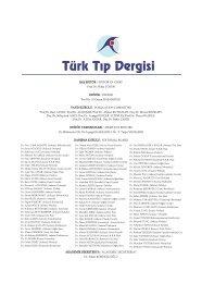 2008 Türk Tıp Dergisi Sayı 1 - Cilt 2