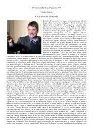 Chi è laico chi è clericale - Istituto Marco Belli