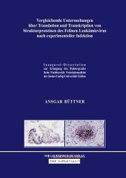 Vergleichende Untersuchungen über Translation und Transkription ...