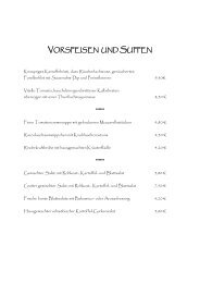 Kalte Vorspeisen - Mayers Waldhorn