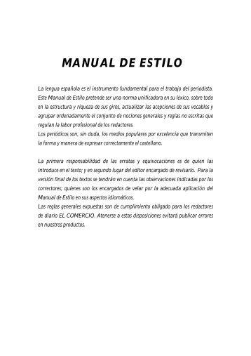 Manual de Estilo - El Comercio
