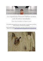 Proceso Publico / Un proyecto de Maria AA - Boek 861