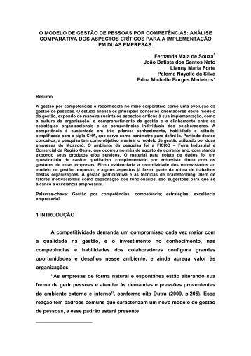 Exemplo de um artigo academico
