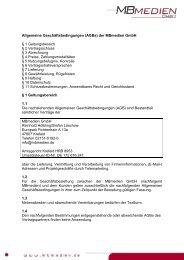 Allgemeine Geschäftsbedingungen (AGBs) der MBmedien GmbH § 1