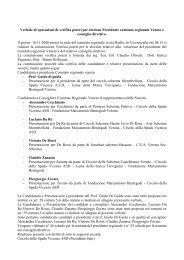 Verbale Elezioni 2008 - FIS - Comitato Regionale Veneto