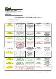 calendario del corso allenatori (allegato 1) - ACLI Verona
