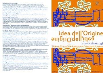 """locandina evento - Conservatorio di Musica """"Francesco Venezze"""""""