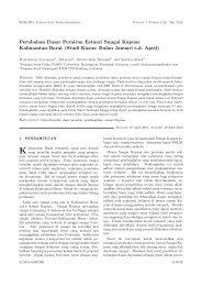 Perubahan Dasar Perairan Estuari Sungai Kapuas Kalimantan Barat