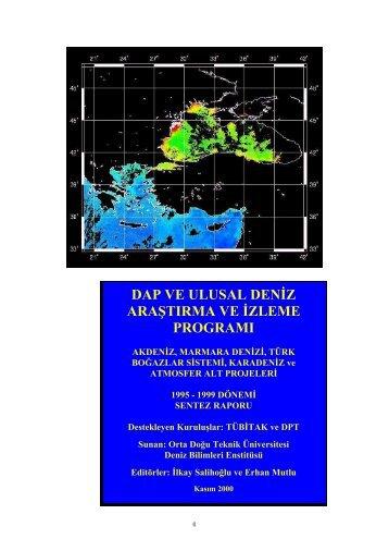 dap ve ulusal deniz araştırma ve izleme programı - Türk Deniz ...