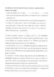 Convenzione per interventi integrati di sostegno ed assistenza a ...