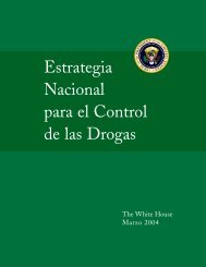 Estrategia Nacional para el Control de las Drogas - National ...