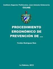 Procedimiento ergonómico de prevención de desórdenes músculo ...