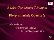 Die gymnasiale Oberstufe - Welfen-Gymnasiums