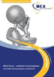 Einfacher kommunizieren mit Unified Communications ... - MCA GmbH