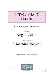 L'italiana in Algeri - Fulmini e Saette
