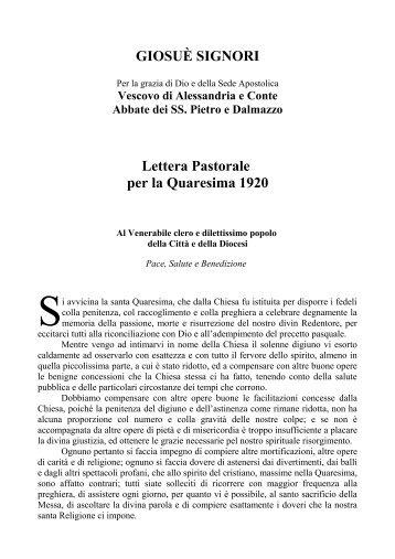 1920 Sine fide impossibile est placere Deo - Diocesi di Alessandria
