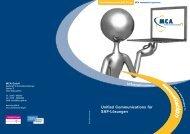 Unified Communications für SAP-Lösungen - MCA GmbH