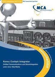 Konvy Cockpit Integrator - MCA GmbH