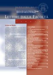 2. Lettere della Facoltà marzo-aprile 2013.pdf - Facoltà di Medicina ...