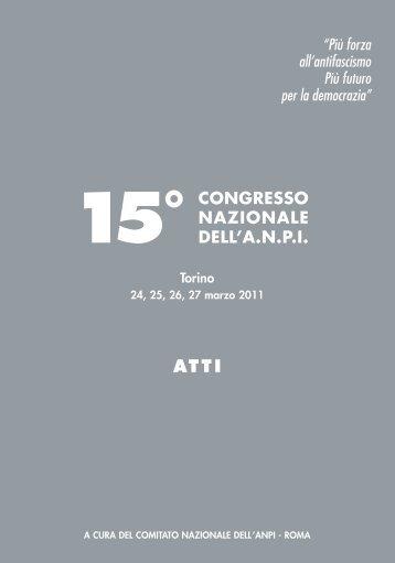 Atti 15° Congresso Nazionale - Anpi