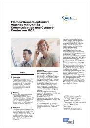 Flamco Wemefa optimiert Vertrieb mit Unified ... - MCA GmbH