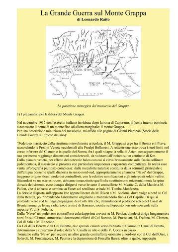 La Grande Guerra sul Monte Grappa - Ars Militaris