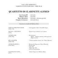 PrograMMa - Associazione Filarmonica Rovereto