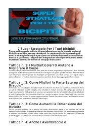 7 Super Strategie Per i Tuoi Bicipiti! Tattica n. 1: i ... - Ultimate Italia