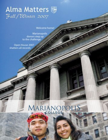 Alma Matters Fall/Winter 2007 - Marianopolis College