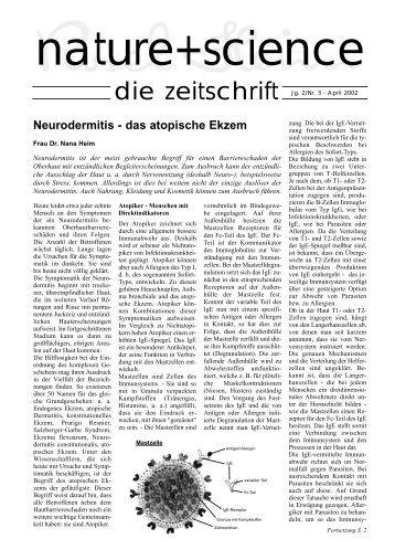 Neurodermitis - das atopische Ekzem