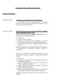 Curriculum Vitae del dott. Paolo Vasques