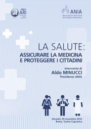 Convegno 'Salute e malpractice' - Intervento di Aldo Minucci - Ania