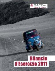 SACE BT - Bilancio d'esercizio 2011