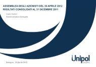 assemblea degli azionisti del 30 aprile 2012 risultati ... - Unipol