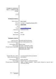 Curriculum Vitae Dr. Marco Andolfi - Comune di Castel San Giovanni