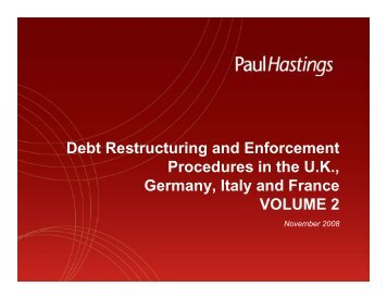Insolvency - Paul Hastings