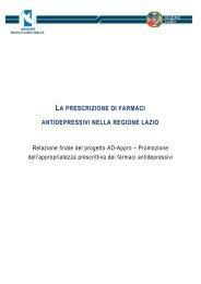 Progetto AD APPRO - Agenzia di Sanità Pubblica della Regione Lazio