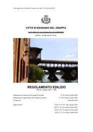regolamento edilizio - Comune di Bassano del Grappa